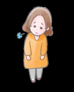 自律神経症状で悩む女性のイラスト|銀座スリーピース整体院